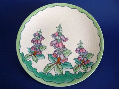 Charlotte Rhead Crown Ducal 'Foxglove' Charger c1937 - Pattern 4953